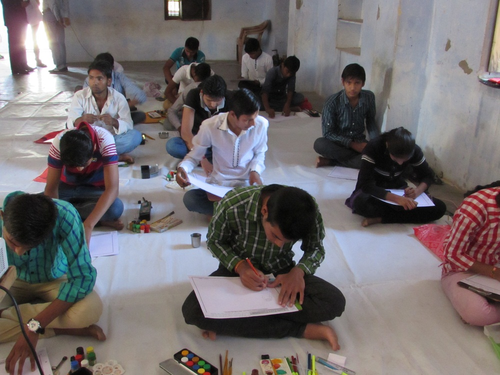 YPF Write, Talk & Art for Peace Competitions at Parbatsar, Nagaur (Raj)