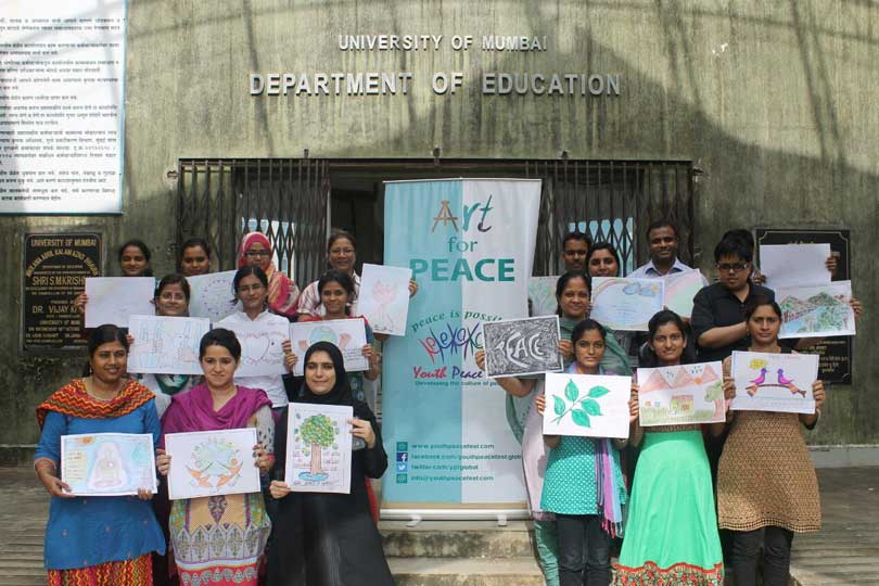 Art for Peace & Talk for Peace at DOE, Mumbai University