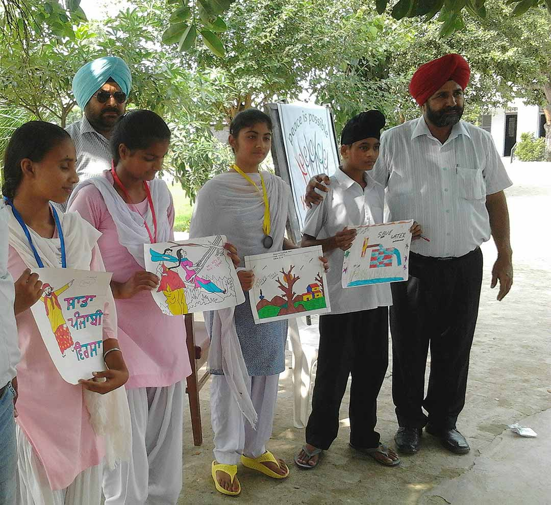 Art for Peace at Gurdaspur, Punjab