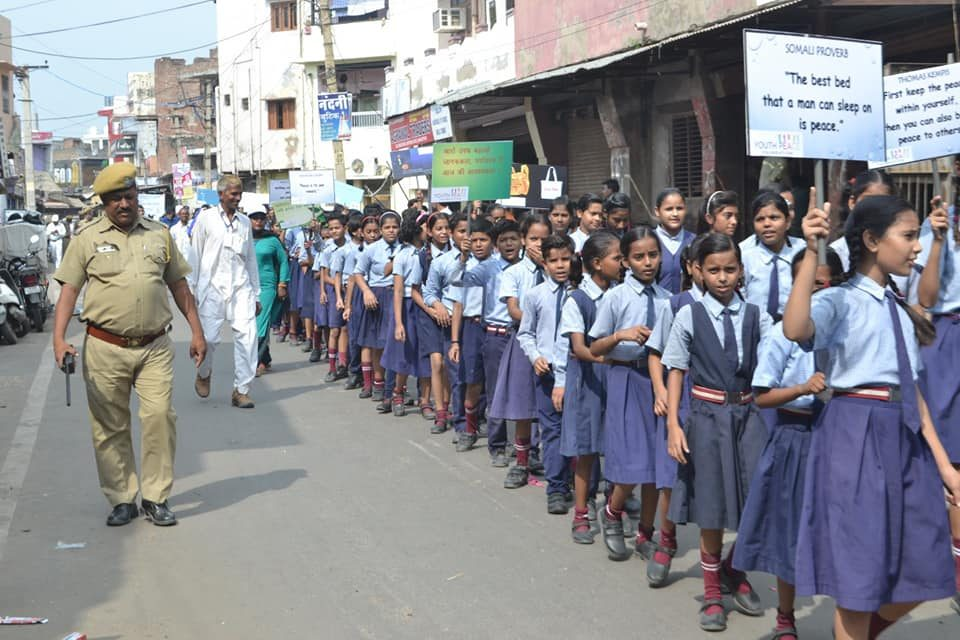 International Peace Day at Bharatpur Organised by YPF