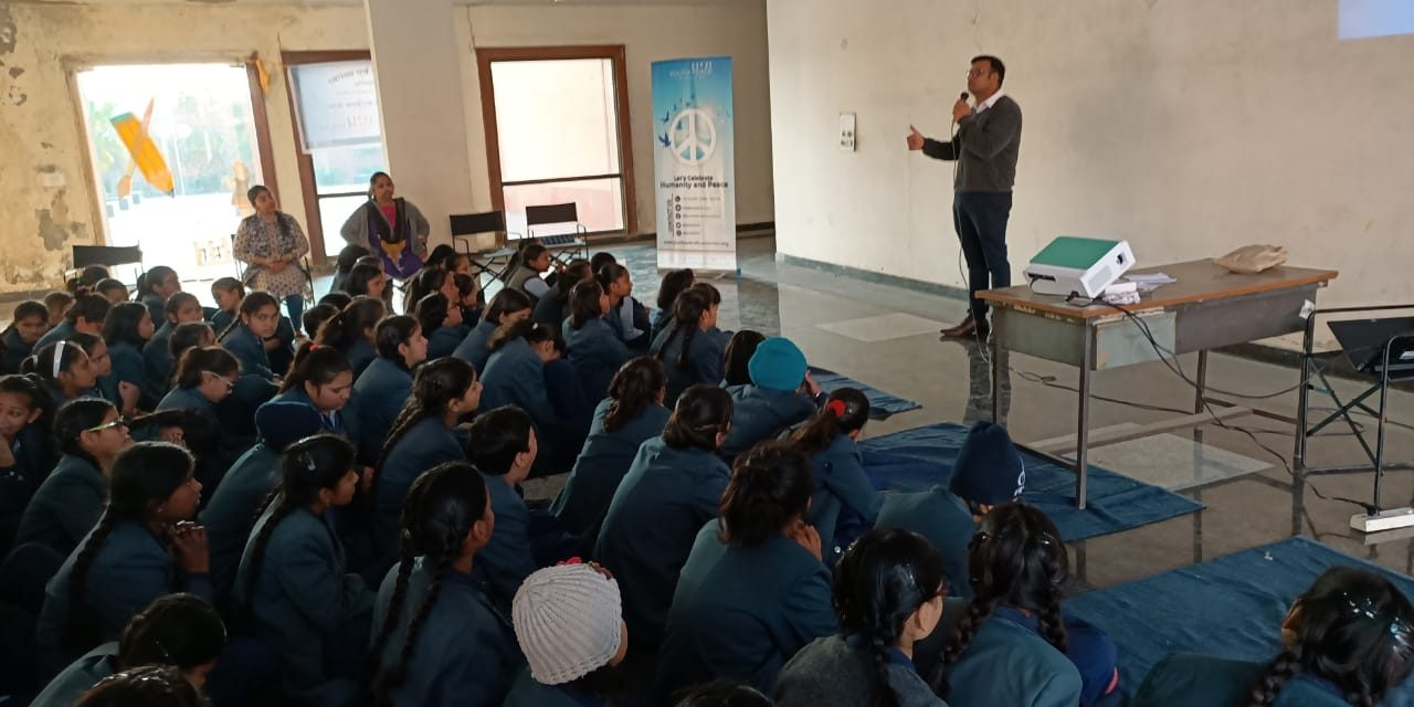 Health and Hygiene Activity in Mahamaya Balika Inter College, Noida