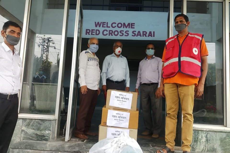 YPF Team Jammu handed over masks to Police department and Red Cross Society