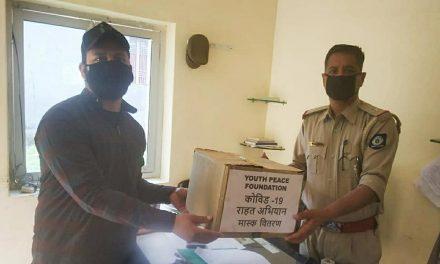 Mask distribution to SHO by YPF Kangra Team