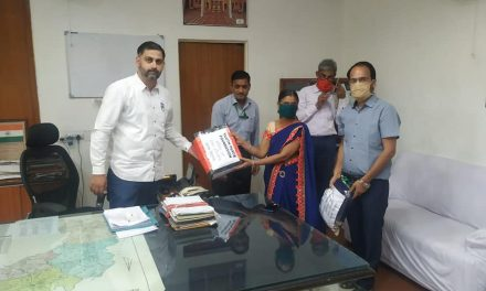 YPF Team distributed masks in Bandikui, Rajasthan