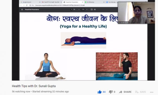 Youth Peace Foundation Organized a Webinar on Health Tips – 2
