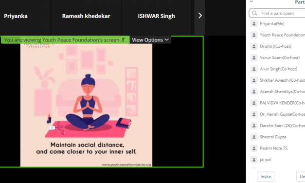 Youth Peace Foundation Organized a Webinar on Health Tips – 1